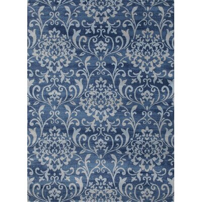 Murphysboro Blue/White Indoor/Outdoor Area Rug Rug Size: 5' x 7'