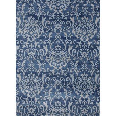 Murphysboro Blue/White Indoor/Outdoor Area Rug Rug Size: 5 x 7