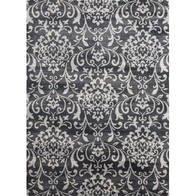 Murphysboro Gray/White Indoor/Outdoor Area Rug Rug Size: 5 x 7