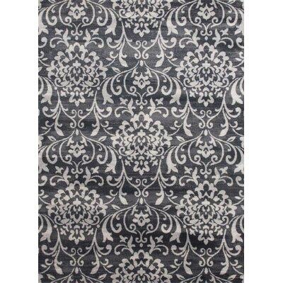 Murphysboro Gray/White Indoor/Outdoor Area Rug Rug Size: 5' x 7'