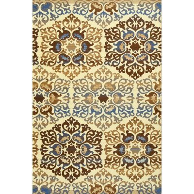 Murphysboro Blue/Ivory Indoor/Outdoor Area Rug Rug Size: 52 x 72
