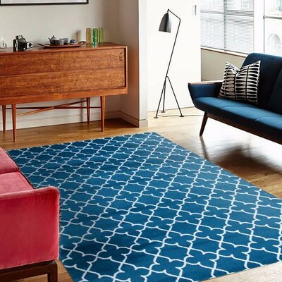 Spaulding Turquoise Indoor/Outdoor Area Rug Rug Size: 8 x 10
