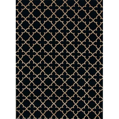 Spaulding Black Indoor/Outdoor Area Rug Rug Size: 5 x 7