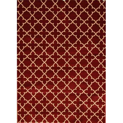 Spaulding Burgundy Indoor/Outdoor Area Rug Rug Size: 5 x 7