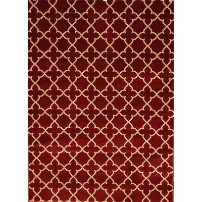 Murphysboro Burgundy Indoor/Outdoor Area Rug Rug Size: 5 x 7