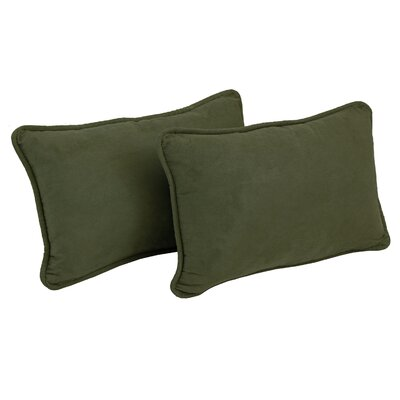 Nagle Microsuede Lumbar Pillow Color: Hunter Green