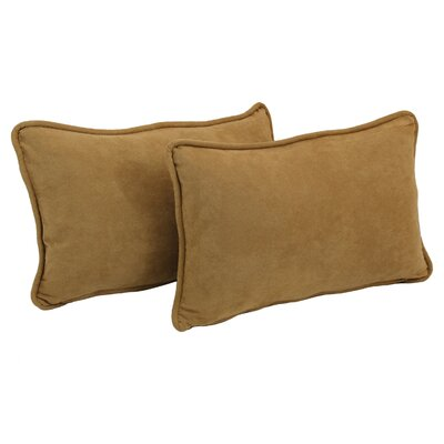 Nagle Microsuede Lumbar Pillow Color: Camel