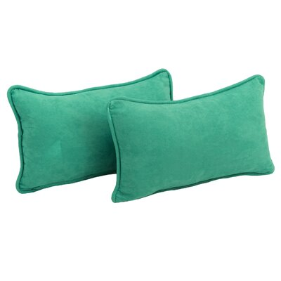 Nagle Microsuede Lumbar Pillow Color: Emerald