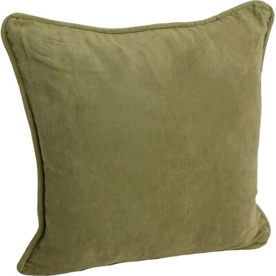 Nagle Microsuede Corded Throw Pillow Color: Sage
