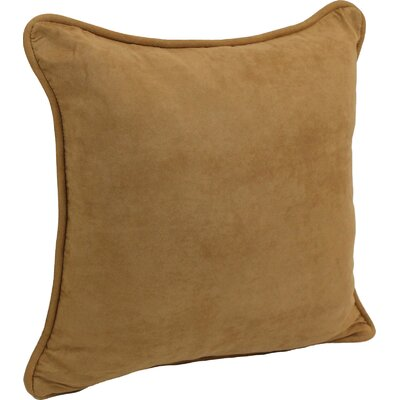Nagle Microsuede Corded Throw Pillow Color: Camel