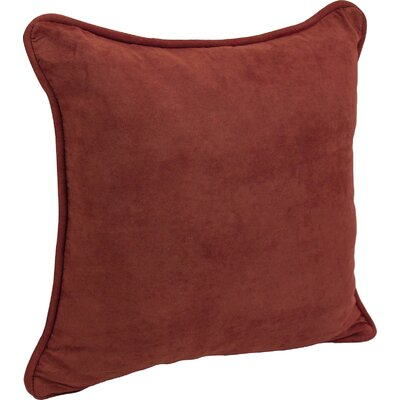 Nagle Microsuede Corded Throw Pillow Color: Red Wine