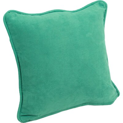 Hargreaves Corded Throw Pillow Color: Emerald