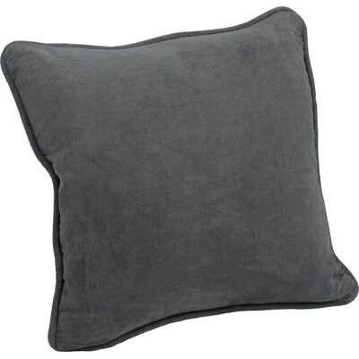 Nagle Microsuede Corded Throw Pillow Color: Grey