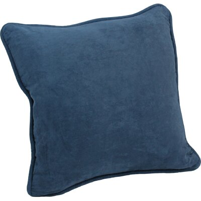 Nagle Microsuede Corded Throw Pillow Color: Indigo