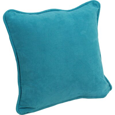 Hargreaves Corded Throw Pillow Color: Aqua Blue