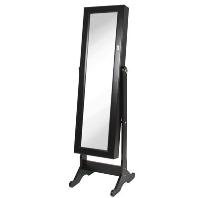Neilsen Cheval Mirror Jewelry Armoire with Mirror Finish: Black