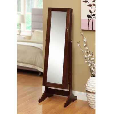 Neilsen Cheval Mirror Jewelry Armoire with Mirror Finish: Cherry