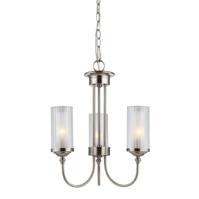 Neiman 3-Light Candle-Style Chandelier Finish: Satin Nickel