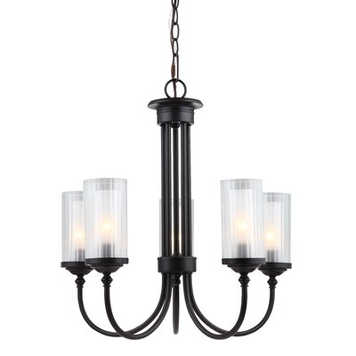 Neiman 5-Light Shaded Chandelier Finish: Oil Rubbed Bronze