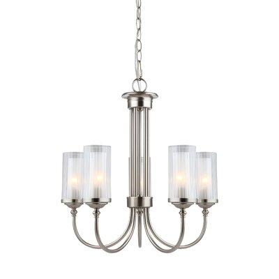Neiman 5-Light Shaded Chandelier Finish: Satin Nickel