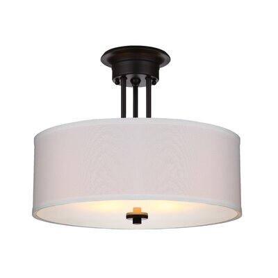 Neiman 2-Light Semi Flush Mount Base Finish: Oil Rubbed Bronze