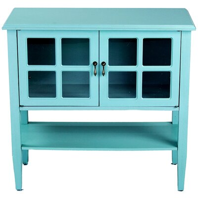 Newsome 2 Door Console Cabinet Finish: Turquoise