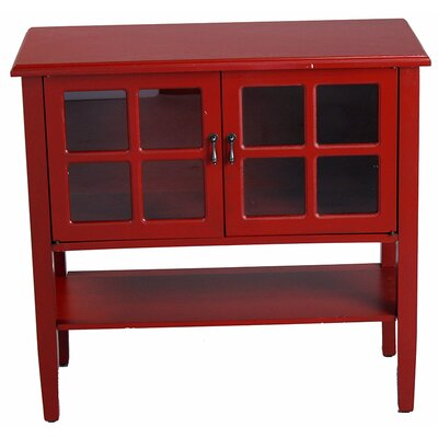 Newsome 2 Door Console Cabinet Finish: Red