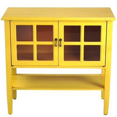 Newsome 2 Door Console Cabinet Finish: Yellow