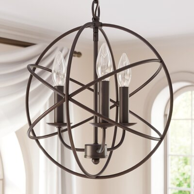 Nickerson 3-Light Candle-Style Chandelier Finish: Oil Rubbed Bronze