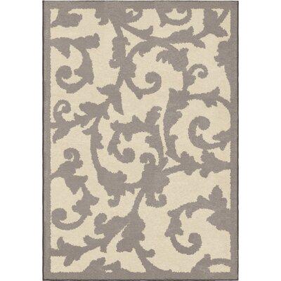 Nisbett Gray/Beige Area Rug Rug Size: 53 x 76
