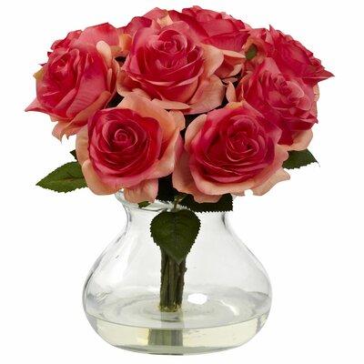 Rose Arrangement in Vase Color: Dark Pink