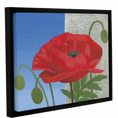'Poppy' Framed Painting Print on Canvas Size: 14