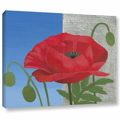 'Poppy' Painting Print on Canvas Size: 14