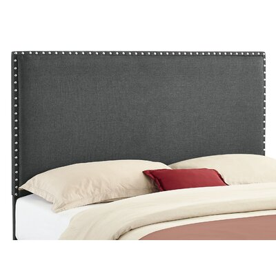 Norden Upholstered Panel Headboard Size: Full / Queen, Upholstery: Charcoal