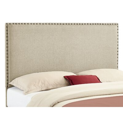 Norden Upholstered Panel Headboard Size: Full / Queen, Upholstery: Natural