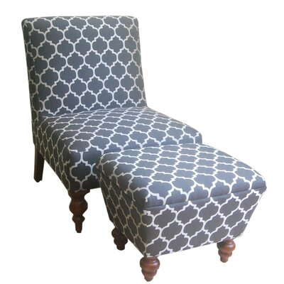 Norridge Slipper Chair and Ottoman Upholstery: Gray
