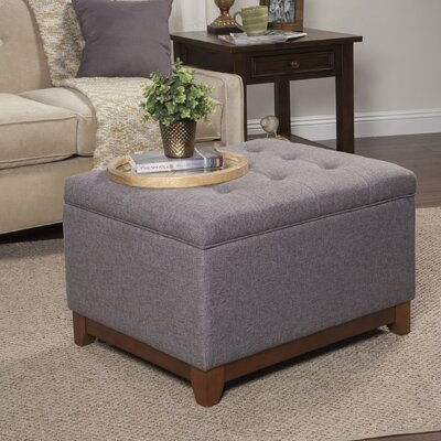 Nunnally Upholstered Storage Cocktail Ottoman Upholstery: Charcoal Gray