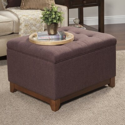 Nunnally Upholstered Storage Cocktail Ottoman Upholstery: Espresso Brown