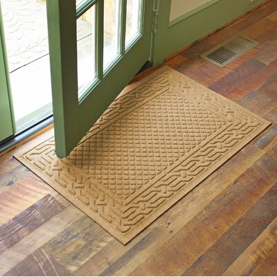 Olivares Acropolis Doormat Color: Gold, Rug Size: Rectangle 24 x 36
