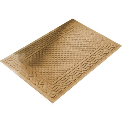 Olivares Acropolis Doormat Color: Gold, Mat Size: Rectangle 30 x 45