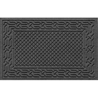 Olivares Acropolis Doormat Color: Charcoal, Mat Size: Rectangle 30 x 45