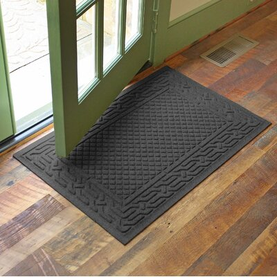 Olivares Acropolis Doormat Color: Charcoal, Rug Size: Rectangle 24 x 36