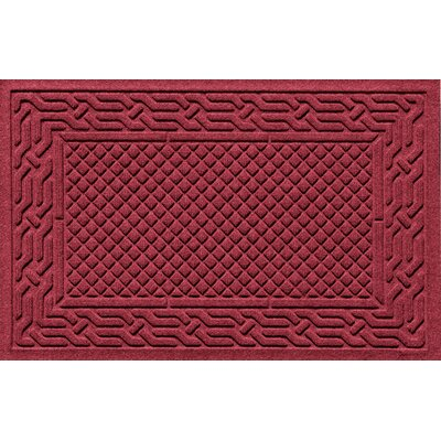 Olivares Acropolis Doormat Color: Red / Black, Mat Size: Rectangle 30 x 45