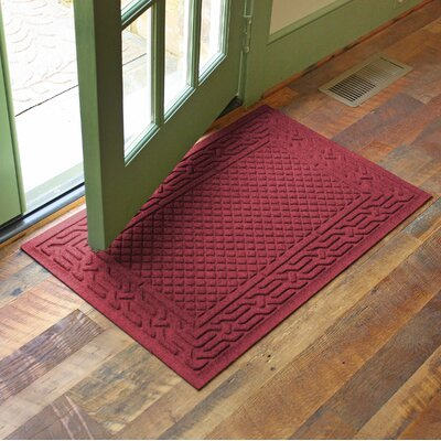 Olivares Acropolis Doormat Color: Red, Rug Size: Rectangle 24 x 36