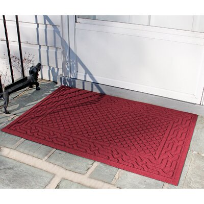 Olivares Acropolis Doormat Rug Size: 30 x 45, Color: Red / Black