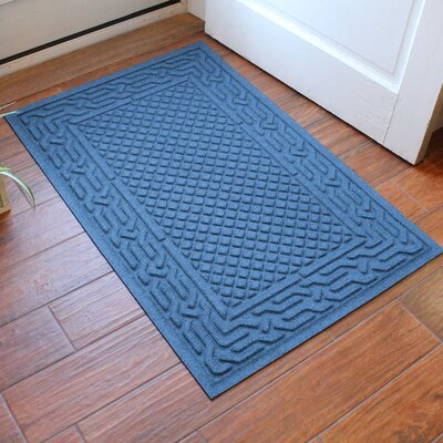 Olivares Acropolis Doormat Color: Medium Blue, Rug Size: Rectangle 30 x 45