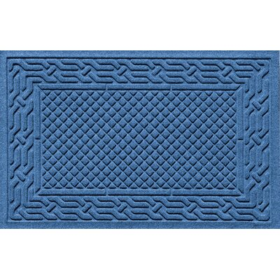 Olivares Acropolis Doormat Color: Medium Blue, Mat Size: Rectangle 24 x 36