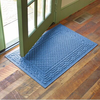 Olivares Acropolis Doormat Color: Medium Blue, Rug Size: Rectangle 24 x 36