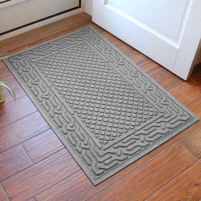 Olivares Acropolis Doormat Color: Medium Gray, Rug Size: Rectangle 30 x 45