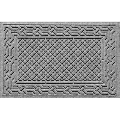 Olivares Acropolis Doormat Color: Medium Gray, Mat Size: Rectangle 30 x 45